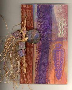 Hand made book. Fiber Artist Sherrill Kahn Beautiful use of colors.