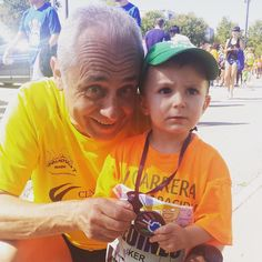 My dad & my son with his first medal.  #run #runner #running #TagFire #fit #runtoinspire #furtherfasterstronger #seenonmyrun #trailrunning #trailrunner #runchat @TagfireApp #runhappy #instagood #time2run #instafit #happyrunner #marathon #runners #photooftheday #trailrun #fitness #workout #cardio #training #instarunner #instarun #workouttime