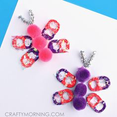 pop tab butterflies
