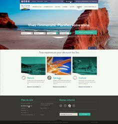 Magdalen Islands - website by Fabien Laborie, via Behance