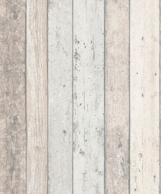 A richly detailed Scandinavian panelled wood effect design – with the look of distressed and faded wood shown in pale blue and gray. http://www.wowwallpaperhanging.com.au/wood-wallpaper-sophie-and-dales-scrapwood-wallpaper-from-the-block/