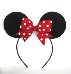 Minnie Mouse Felt Fabric Ears Headband, Disney Crafts