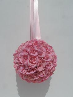 Mini Pink Roses Kissing Ball  $28