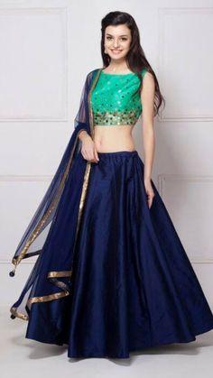 Youdesign Art Silk Lehenga Choli In Blue Colour Size Upto 66 Pakistani Dresses, Indian Dresses, Indian Outfits, Indian Attire, Indian Wear, Indian Style, Lehenga Choli Online, Lehenga Designs, Indian Designer Outfits