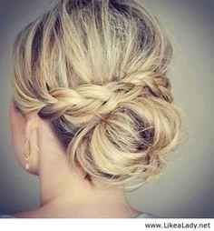 Brides make hair