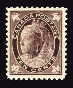 Canada, Scott 73. 1897-98 Maple Leaf, 10c brown violet, n.h., well centered, fresh and v.f., with 2015 Vincent Greene cert., (Catalog value $1,500)