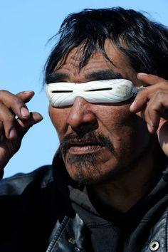 Alaskan Inuits' Iggaak Hunting Goggles