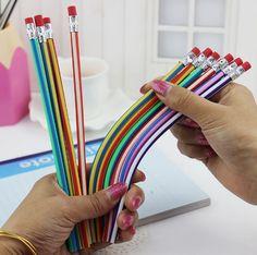 Гнущиеся карандаши. Нашла здесь - http://ali.pub/08uef #канцеляромания