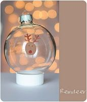 Rudolf Thumbprint Ornament @Donna Cook- idea for school.