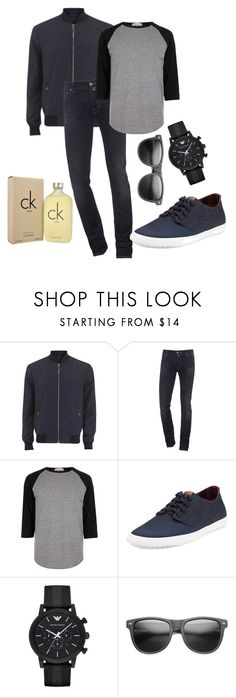"""Dark Fashion #13 Men"" by juhgarciaxx ❤ liked on Polyvore featuring Versace, Jacob Cohёn, River Island, Ben Sherman, Emporio Armani, Calvin Klein, men's fashion and menswear"