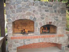 Bricklaying garden fireplaces