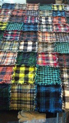 Flannel Rag Quilts, Plaid Quilt, Plaid Flannel, Denim Quilts, Blue Jean Quilts, Baby Rag Quilts, Shirt Quilts, Flannel Shirt, Quilting Projects