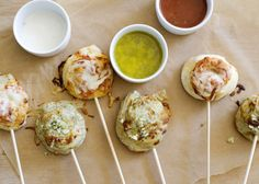 Pizza Skewers - Not-so-Ordinary Pizza Recipes curated by SavingStar. Get free grocery coupons at savingstar.com