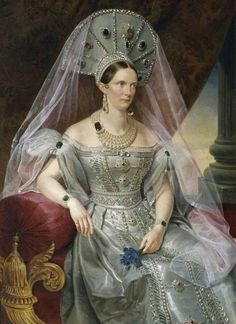 Paintings by Franz Kruger (1797-1857) - Portrait of Empress Alexandra Feodorovna