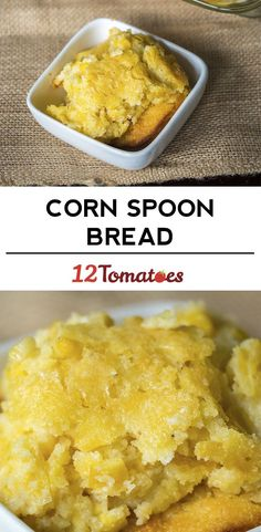 Sweet Corn Spoon Bread - similar but better than corn bread. made with corn and a muffin mix, a little bit of sugar, etc, it's both savory and sweet. Thanksgiving Recipes, Holiday Recipes, Great Recipes, Favorite Recipes, Corn Spoon Bread, Spoon Cornbread, Cornbread Recipes, Corn Recipes, Good Food
