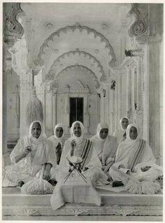 View of Jain Nuns in the New Jaina Temple - 1928