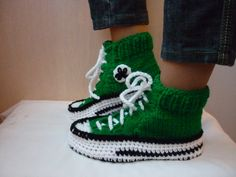 Crochet Pattern Converse Slippers,  Knitted Pattern Slippers, Crochet Pattern Converse, Knitted Pattern Converse, Woman Converse Slippers
