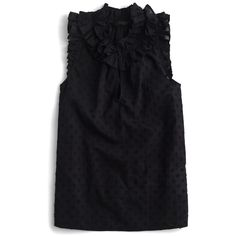 Petite Women's J.crew Ruffle Top (3.875 RUB) ❤ liked on Polyvore featuring tops, black, petite, frill top, petite tops, frilled top, flutter-sleeve top and frilly tops