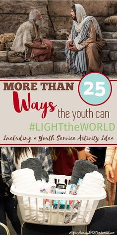 Life's Journey To Perfection: Combined Youth Service Activity: More than 25 Ways the Youth can Share Their Lights and Mutual Activities, Youth Group Activities, Young Women Activities, Youth Groups, Group Games, Youth Games, Lds Youth, Youth Ministry, Ministry Ideas