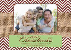 Red Chevron Photo Christmas Card / Custom / Printable / DIY Christmas Card