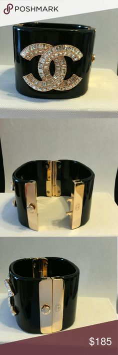 CC acrylic cuff CC acrylic cuff high quality comes with stamp price is based on quality and does not come with dust bag or box bracelet is fashion only not a brand Chanel  Jewelry Bracelets