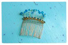 DIY Beaded Crystal Embellished Hair Comb Tutorial