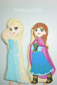 Disney Frozen Elsa Anna cookies