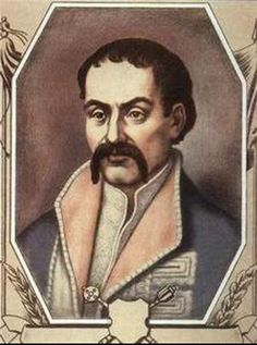 Pylyp Orlyk(1672-1742),hetman of right bank (in emigration) 1710-1742, from Iryna
