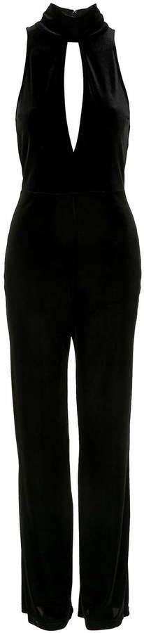 Pin for Later: 75 Combinaisons Qui Seront la Parfaite Alternative à la Classique Robe de Soirée  Topshop - Combi-pantalon plongeant en velours  (80€)