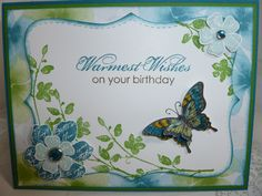 A Birthday card inspired from one from Teneale Williams that I saw on Pinterest.