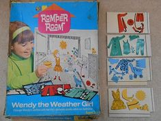 VINTAGE ROMPER ROOM WENDY THE WEATHER GIRL PLASTICON COLORFORMS HASBRO 1970 (02/07/2013)