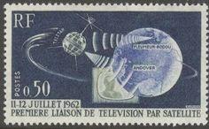 Telstar 1: http://d-b-z.de/web/2012/07/10/fernsehubertragung-per-satellit-telstar-1/