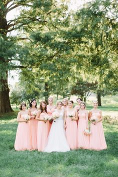 Rustic bridal party: http://www.stylemepretty.com/little-black-book-blog/2014/10/21/glamorous-pink-khorassan-ballroom-wedding/ | Photography: MNC Photography - http://mnc-photography.com/