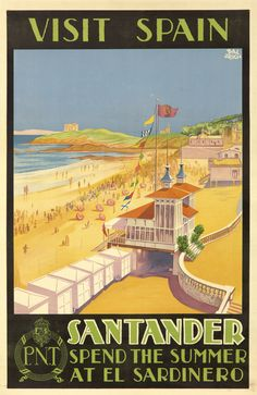 Original vintage poster for sale in our May 4 auction www.postersplease.com Spain Santander