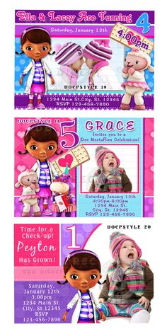 Cute Doc Mcstuffins Invitation Doc Mcstuffins by SDBDIRECT on Etsy, $9.99