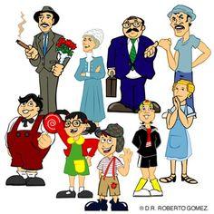 Primeros bocetos que trabaje para Chespirito