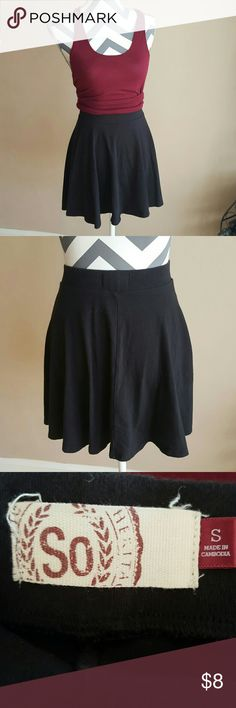 """Cotton Skirt Banded waist.  Flowy bottom. Length is 16"""" from top of waist to bottom hem.  Good condition. SO Skirts Circle & Skater"""