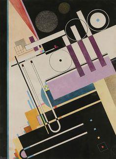 Fugue (1928) by Rudolf Bauer (German 1889–1953) davidcharlesfoxexpressionism.com #rudolfbauer #expressionism #geometricart #abstract