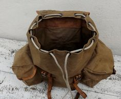 French vintage rucksack military backpack por Daisyrootsfrance