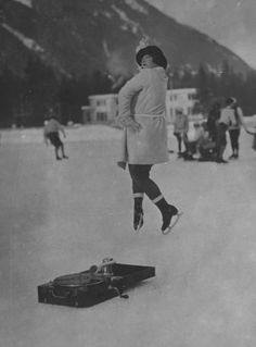 January 24th, 1924, Winter Olympic Games.  Athlete in training.