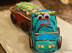 Crafty Moods - Free craft and lifestyle projects resource for all ages: No-Bake Birthday Truck Cake Under 30 Minutes!!!