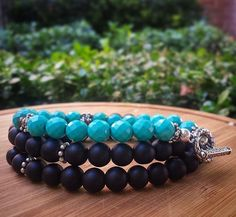 Spring. Is. Here!!   Faceted Turquoise, Bali Silver and Black Onyx.  Shacklesco.com 'From the ground up'.