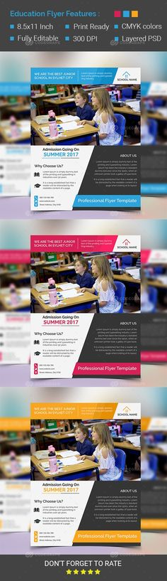 School Education Flyer Template on @codegrape. More Info: https://www.codegrape.com/item/school-education-flyer-template/15206