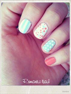 Romantic nail art