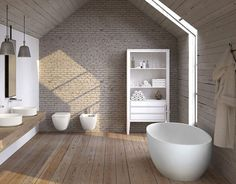 Collections sanitary ware bathroom furniture design proposals and innovative surfaces in an exciting range of products Made in Italy by Ceramica Cielo. Contemporary Bathrooms, Modern Bathroom, Small Bathroom, Bathroom Ideas, Contemporary Decor, Wooden Wall Decor, Wooden Walls, Bathroom Showrooms, Cool Rooms