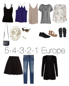 """""""5 shirts, 4 accessories, 3 shoes, 2 bottoms, 1 jacket"""" #54321packing #minimalistpacking #backpackingeurope"""