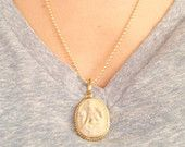 Carved resin Ganesha necklace // protection necklace // yoga jewelry //layering // statement