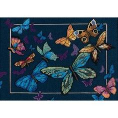 Gold Collection Petite Exotic Butterflies Counted Cross Stit-7