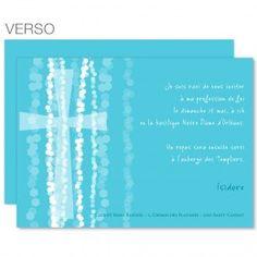 Croix Contemporaine Bleue pour une invitation personnalisée à la hauteur de la célébration