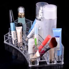 Acrylic Cosmetic Organizer Makeup Brushes Lipstick Holder 1066 Office Organizer ** See this great product.Note:It is affiliate link to Amazon.